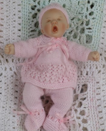 Pattern baby knitted jumpsuit 2