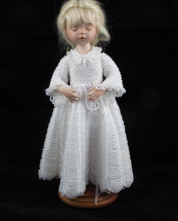 Angelic Pearl Beaded knitting pattern   Lee-Annes Dolls